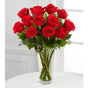 E2-4305 The Long Stem Red Rose Bouquet by FTD - VASE INCLUDED